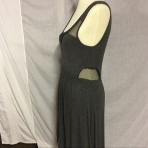 Monteau grey dress with mesh
